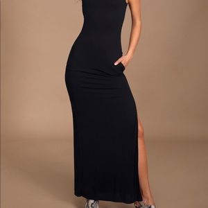 Lulus bodycon maxi with high side slit large